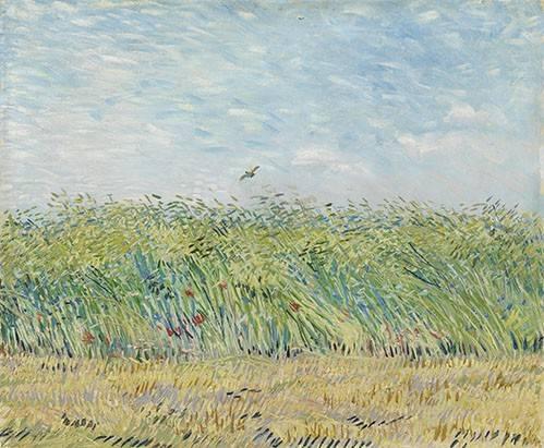 landschaften-gemaelde - Champ de blé avec perdrix,1887 - Van Gogh, Vincent