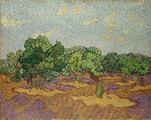 landschaften-gemaelde - Oliviers - Van Gogh, Vincent