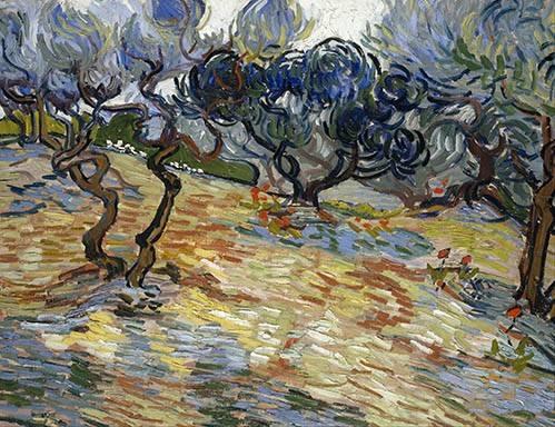 landschaften-gemaelde - Les oliviers, 1889 - Van Gogh, Vincent