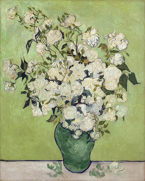 blumen-und-pflanzen - Eine Vase von Rosen, 1890 - Van Gogh, Vincent