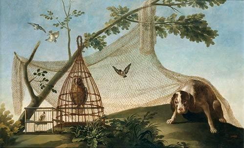 tiermalereien - Caza con reclamo - Goya y Lucientes, Francisco de