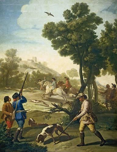tiermalereien - Partida de caza - Goya y Lucientes, Francisco de