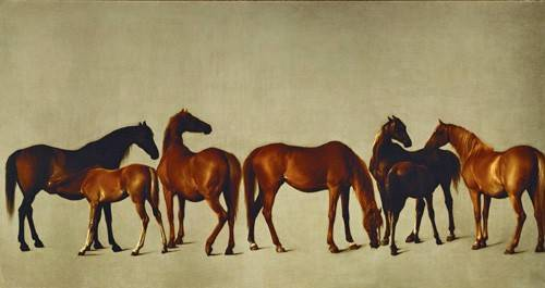 tiermalereien - Mares and Foals- (caballos) - Stubbs, George