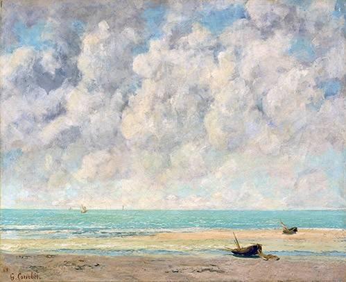 seelandschaft - El mar en calma - Courbet, Gustave