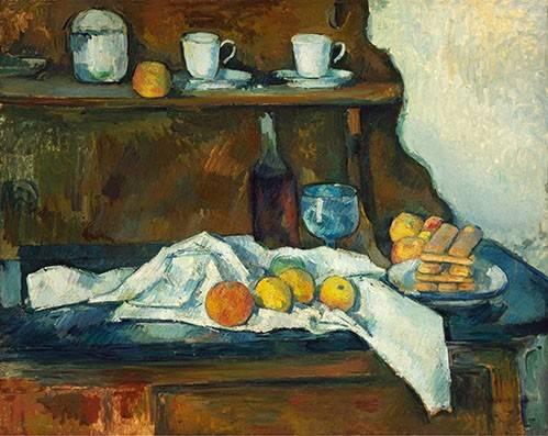 stillleben-gemaelde - La commode - Cezanne, Paul