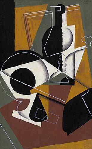 abstrakte-gemaelde - Kaffeemühle und Abfüllung - Gris, Juan