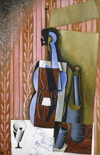 abstrakte-gemaelde - Geige - Gris, Juan