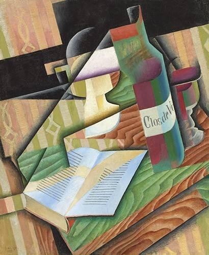 abstrakte-gemaelde - Das Buch, 1913 - Gris, Juan