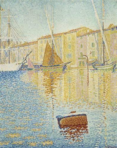 seelandschaft - La Bouée rouge, Saint-Tropez, 1895 - Signac, Paul
