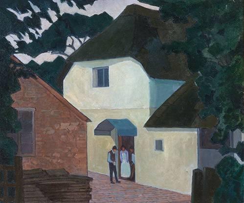 landschaften-gemaelde - The Caller at the Mill - Bevan, Robert