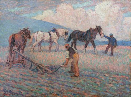 landschaften-gemaelde - The Turn Rice-Plough, Sussex - Bevan, Robert
