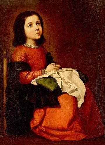 religioese-gemaelde - L'enfance de la vierge - Zurbaran, Francisco de