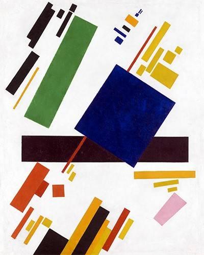 abstrakte-gemaelde - Suprematistische Komposition, 1916 - Malevich, Kazimir S.