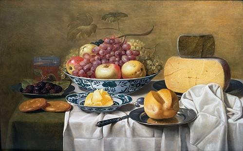 stillleben-gemaelde - Nature morte de fruits et de fromage - Schooten, Floris Gerritz Van