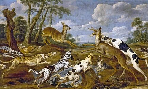 tiermalereien - Cazeria de corzos (Caza) - Paul de Vos