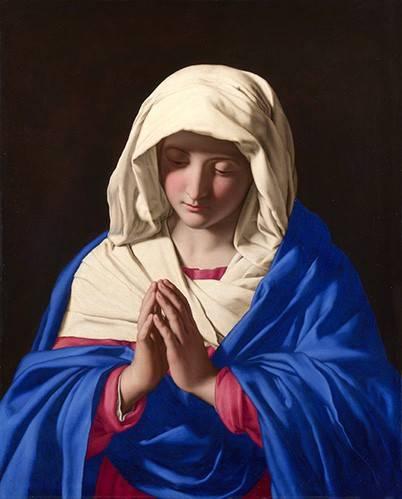 religioese-gemaelde - La Virgen rezando, 1640-50 - Sassoferrato
