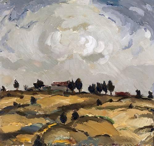 landschaften-gemaelde - Autumn landscape with clouds - Aalto, Ilmari