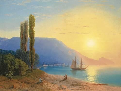 seelandschaft - Sonnenuntergang über Jalta - Aivazovsky, Ivan Konstantinovich