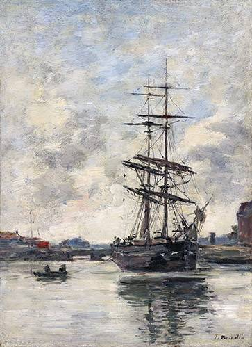 seelandschaft - Ship on the Touques, 1888 - Boudin, Eugene
