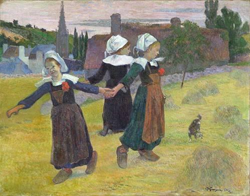 portraetgemaelde - Breton Girls Dancing, Pont-Aven - Gauguin, Paul