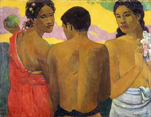 portraetgemaelde - Tres Tahitianos - Gauguin, Paul
