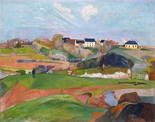landschaften-gemaelde - Paisaje en Le Pouldu, 1890 - Gauguin, Paul