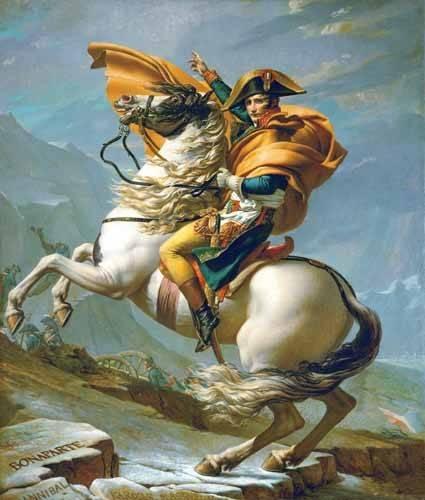 portraetgemaelde - Napoléon Bonaparte traversant les Alpes, 1801 - David, Jacques Louis