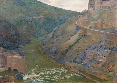 landschaften-gemaelde - El Tajo, Toledo - Beruete, Aureliano de