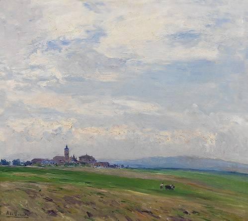 landschaften-gemaelde - Paisaje castellano - Beruete, Aureliano de