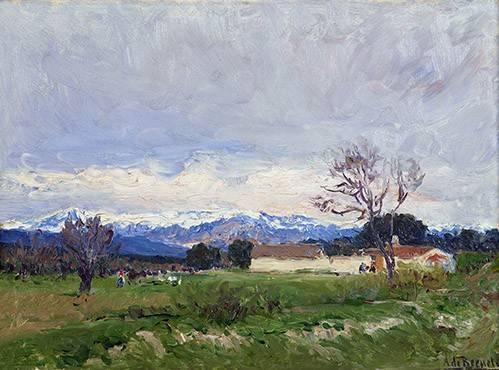 landschaften-gemaelde - Paisaje del Pardo (Madrid) - Beruete, Aureliano de