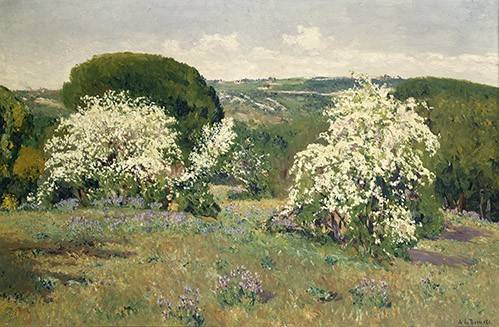landschaften-gemaelde - Espinos en flor - Beruete, Aureliano de