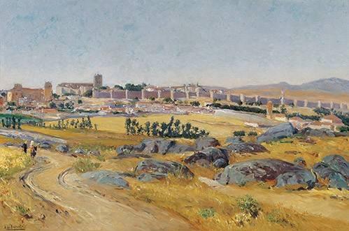 landschaften-gemaelde - Avila, 1909 - Beruete, Aureliano de