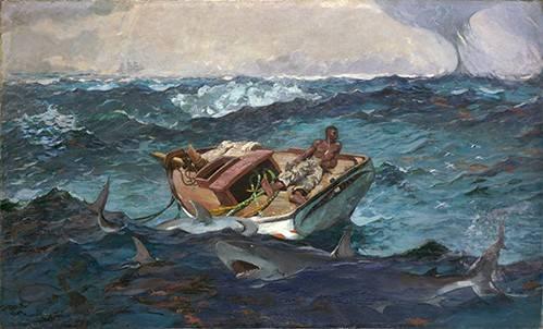 seelandschaft - The Gulf Stream, 1899 - Homer, Winslow