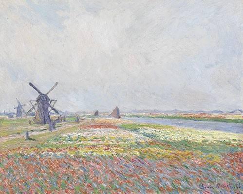 landschaften-gemaelde - Champs de tulipes près de Rijnsburg, 1886 - Monet, Claude