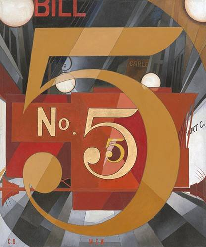moderne-gemaelde - I Saw the Figure 5 in Gold - Demuth, Charles