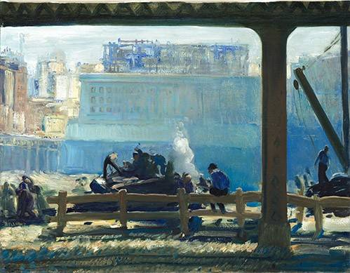 landschaften-gemaelde - Blue Morning - Bellows, George