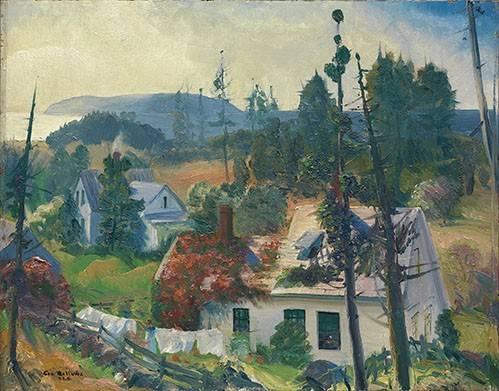 landschaften-gemaelde - The Red Vine, Matinicus Island, Maine - Bellows, George