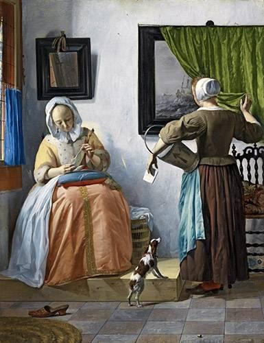 portraetgemaelde - Woman reading a letter - Metsu, Gabriël