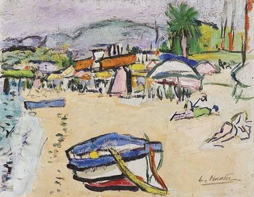 seelandschaft - On the beach, South of France - Hunter, G.L.