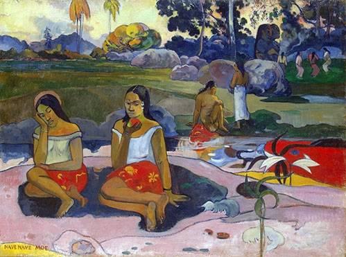 landschaften-gemaelde - Nave Nave Moe - Gauguin, Paul