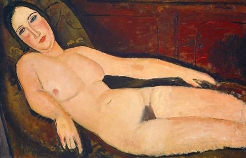 portraetgemaelde - Nude on a Divan, 1918 - Modigliani, Amedeo