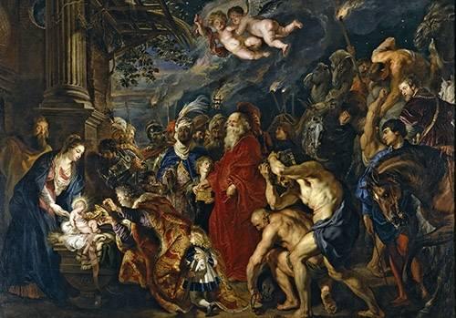 religioese-gemaelde - La adoracion de los reyes magos - Rubens, Peter Paulus