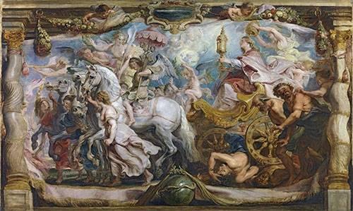 religioese-gemaelde - El triunfo de la iglesia - Rubens, Peter Paulus