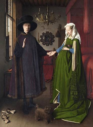 portraetgemaelde - Les Époux Arnolfini, 1434 - Van Eyck, Jan