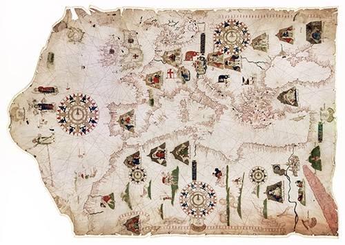 alte-karten-und-zeichnungen - Mateus Prunes, 1559 - Chart of the Mediterranean, Black Sea, and the coasts - Anciennes cartes