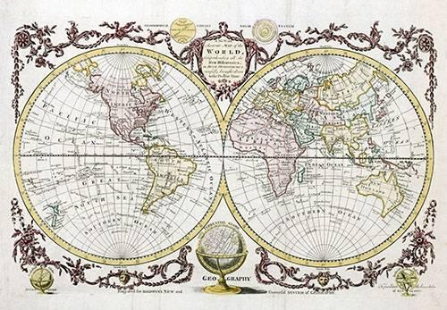 alte-karten-und-zeichnungen - Baldwyn, 1782 - Map of the World - Anciennes cartes