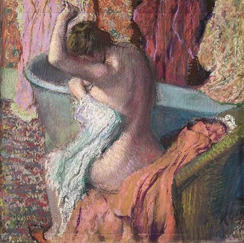 portraetgemaelde - Après la douche - Degas, Edgar