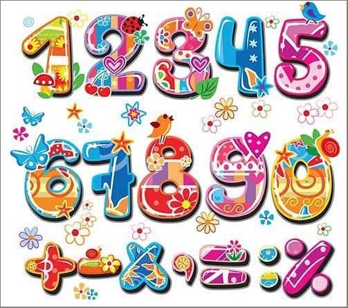 kinderzimmer - Números e sinais - Illustrations for children