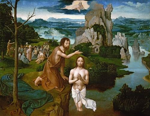 religioese-gemaelde - Baptism of Christ_Bautismo de Cristo - Patinir, Joachim