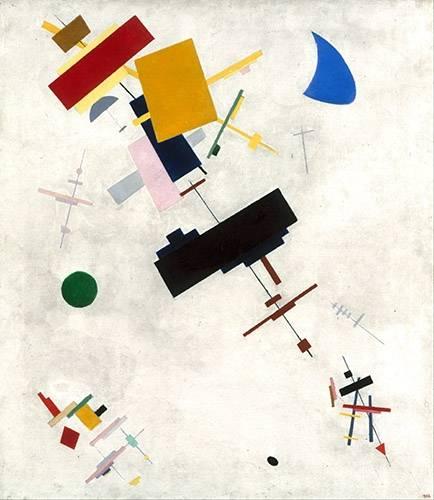 abstrakte-gemaelde - Suprematistischen Zusammensetzung No.56, 1936 - Malevich, Kazimir S.